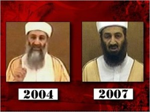 Bin Laden in 2004 and fake in 2007